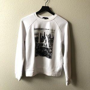 LA City Of Dreams White Crew Neck Sweatshirt Sz Sm